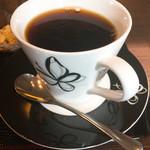 らん。 - コーヒー美味しい*カップとソーサは「森英恵」
