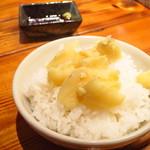 麺匠 八雲 - 北の白ごはん250円