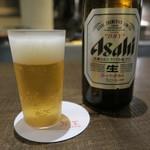 炭焼 芹生 - 29年9月 アサヒスーパードライ中瓶