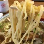 千里庵 - ちゃんぽんの太麺