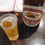 大豊記 - キリンビールは大瓶で680円。餃子にはやっぱりビールでしょ◎