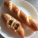 リフィート - イースト菌のパン ハチミツバター  天然酵母のパン ウィンナーレモンパセリ
