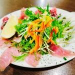 ナチュラ 武蔵小杉店 別館 - カルパッチョ(生バチマグロ、天然ぶり、炙り生ダコ)