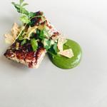 73620403 - 前菜 鰻 冬瓜、フォアグラ、バルサミコのソースで