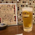 やきとり平助 - 生ビール
