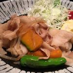 すぎのこ - 豚バラ肉の生姜焼き
