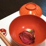 料理屋 真砂茶寮 - 強肴:山形牛の炙り