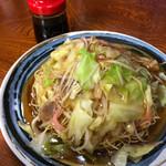 みよし食堂 - 醤油あんのパリパリ麺皿うどん