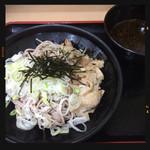 大江戸そば - 豚肉つけそば 460円