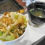 焼肉ノ志志 - サラダとスープ