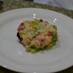 東京パリ食堂 - 前菜 スモークサーモン・海老・アボガドのタルタル