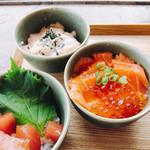 椿サロン - 海鮮3色の小丼だよ