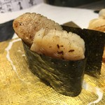 第三春美鮨 - 北寄貝 大 桁曳き網漁 北海道網走 小柱の備長炭炙り