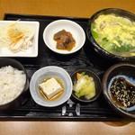 73634970 - ランチ:あったかスープ御膳 季節野菜の鶏スープ 水餃子