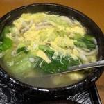 73634973 - ランチ:あったかスープ御膳 季節野菜の鶏スープ 水餃子