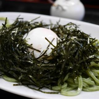 うどん sugita - 料理写真:のりぶっかけ 温玉のせ