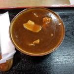 鹿の谷3丁目食堂 - 料理写真:カレーそばハーフ 500円