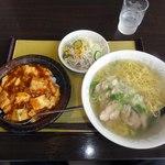 三華 - マーボー丼とチースータンメンのセット