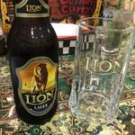 セイロンカリー - ライオンビールのラガー(600円)