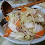 玉蘭 - タンメン。野菜が半端じゃないです❗少食の方は野菜や麺を少なくしてもらいましょう❗