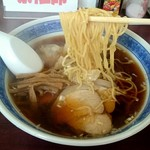 中華そばもりや - くせのない中華麺