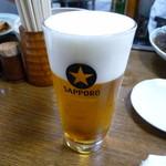 笹新 - ビール 450円
