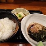 鯛茶や - ◆鯛茶漬け(980円)・・鯛茶・ご飯・出汁・小鉢などのセット。