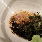 鯛茶や - ◆福岡の「鯛茶」は「胡麻だれ」で頂くことが多いのですが、こちらはお醤油ベースで少し甘く感じる「特製だれ」。
