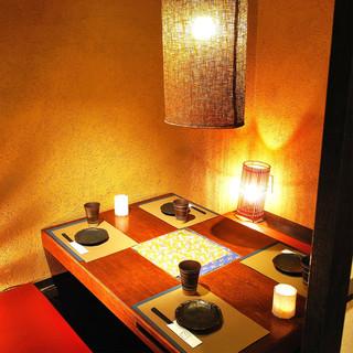 和情緒漂う個室空間、まったりとしたひとときを。。