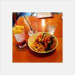 NUNU CAFE - ベーコンエッグサンド&ラズベリーソーダ♡