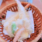 美可美 - 和定食の天ぷら