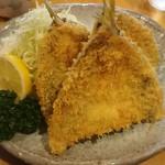 魚佐 - アジフライ定食1100円(税込)