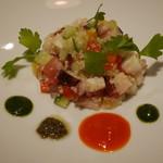 Prune - 前菜 タコのタルタル