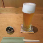 73655116 - 生ビール・お通し