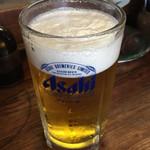 とり勝 - 生ビールです。