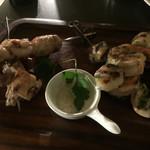 セラフィーナ ニューヨーク - スピエディーノ(海老と鶏の串焼き)