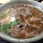 まるぶん - 料理写真:米沢牛牛肉そば