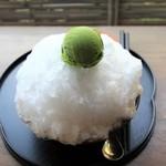 大蔵餅 - 抹茶のアイス