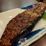 旬魚菜 しら川 - 長茄子の鳥挽肉味噌田楽 茄子がトロトロ