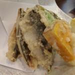 旬魚菜 しら川 - 金アジの天ぷら 身がフワフワです