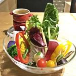 グリーン グリル - 名物 シェフ厳選野菜のバーニャカウダ(税別1,380円)