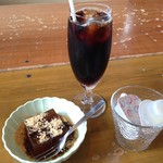 原田八幡 - 食後のコーヒーと黒蜜寒天
