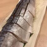 磯丸すし - 〆鯖の炙り 炙り前