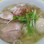 麺や 双六 - 鶏塩ラーメン味たまチャーシュー