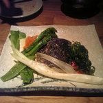 7367329 - スズキと野菜。