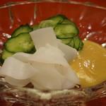 初音鮨 - モンゴウイカの酢味噌和え