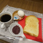 トラッツィオーネ ナゴヤ ウィズ カゴメ - こだわり小豆の小倉トーストモーニング(ドリンク代+50円)