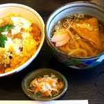 和風亭 - かつ丼と温うどんのセットにしました(1,050円,税別)。