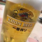 桐のや水産 - 生ビール