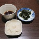 三合菴 - 辛味大根と海苔
